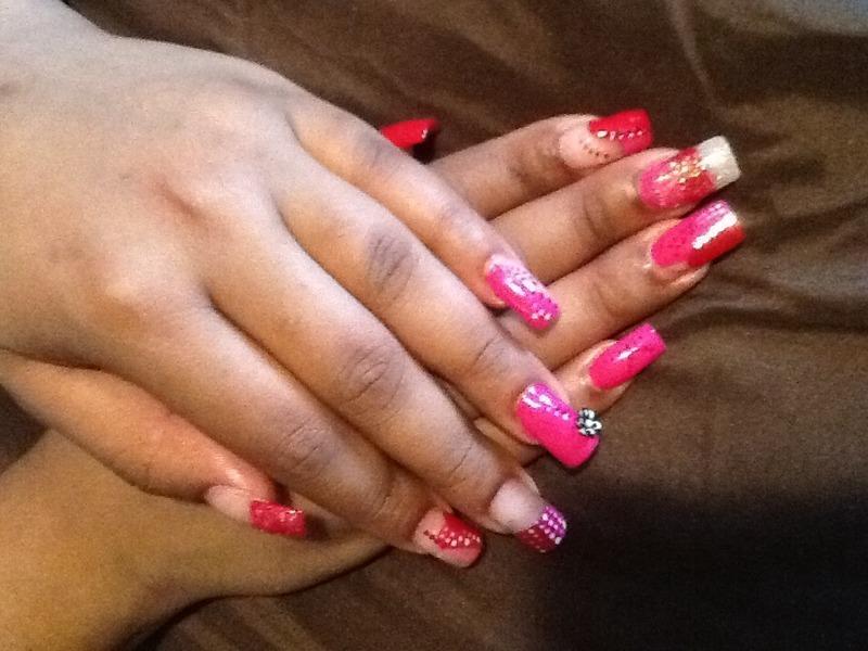 SweetHeart nail art by Nashyia