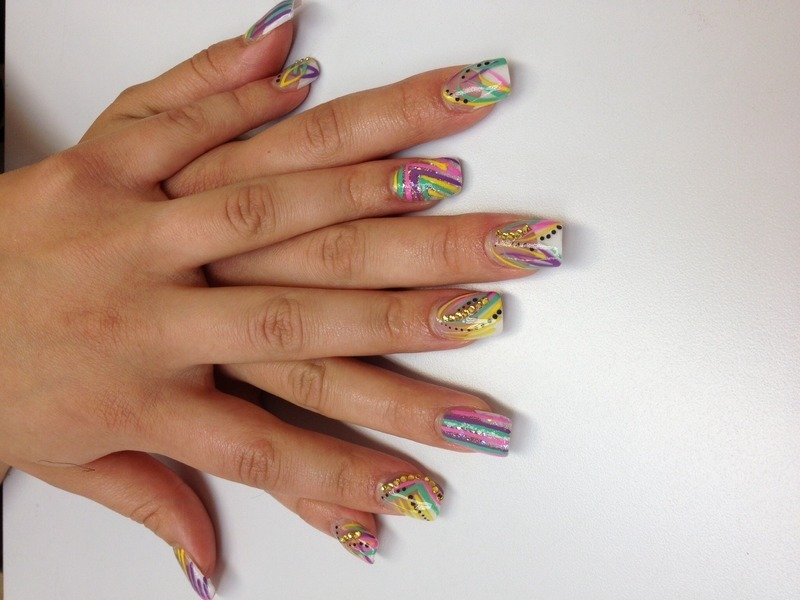 Spring Fun! nail art by Nashyia