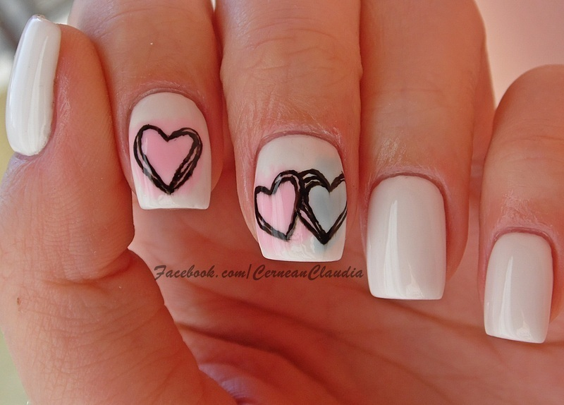 Colorful Hearts Nails nail art by Claudia