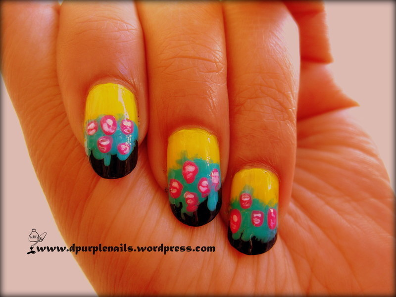 Rose Garden nails nail art by Deepika