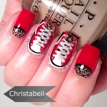 Leopard Kicks nail art by Christabell