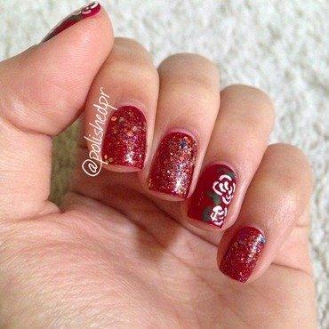 White Roses nail art by Jenn Thai