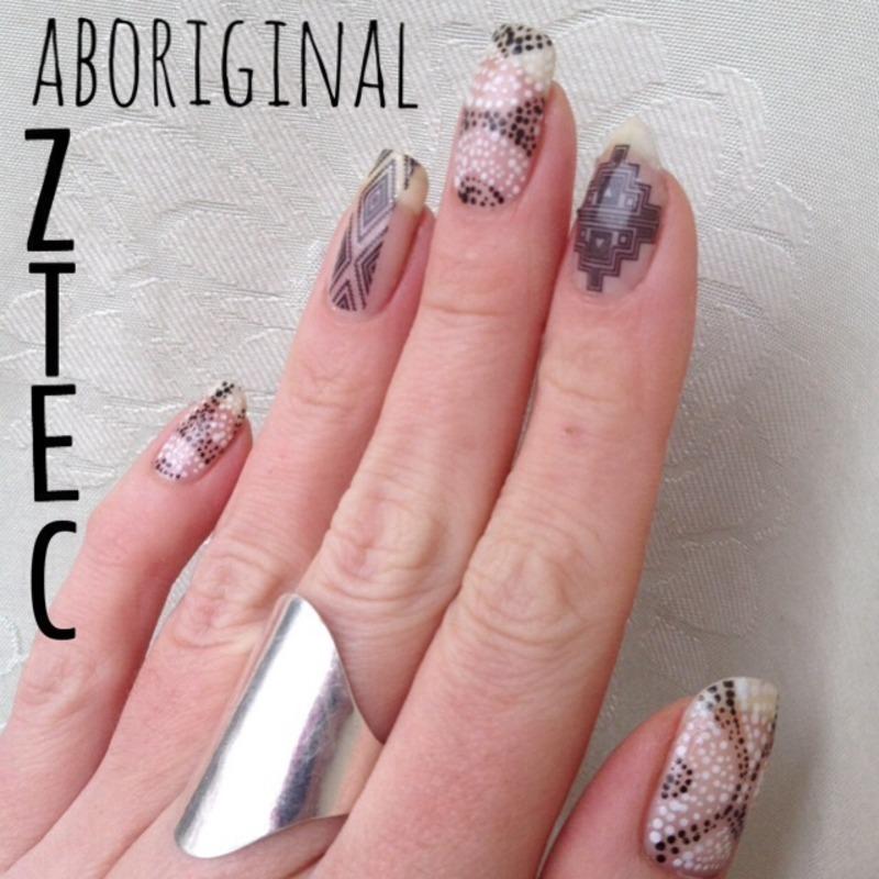 Aboriginal Aztec  nail art by C-Line's Box