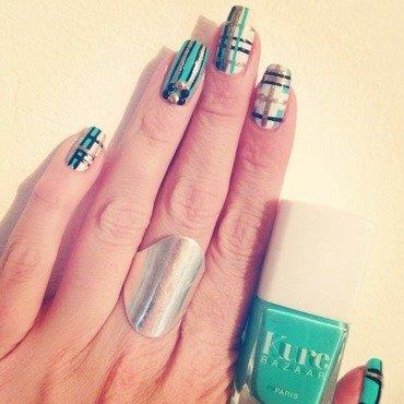 Plaid nails  nail art by C-Line's Box