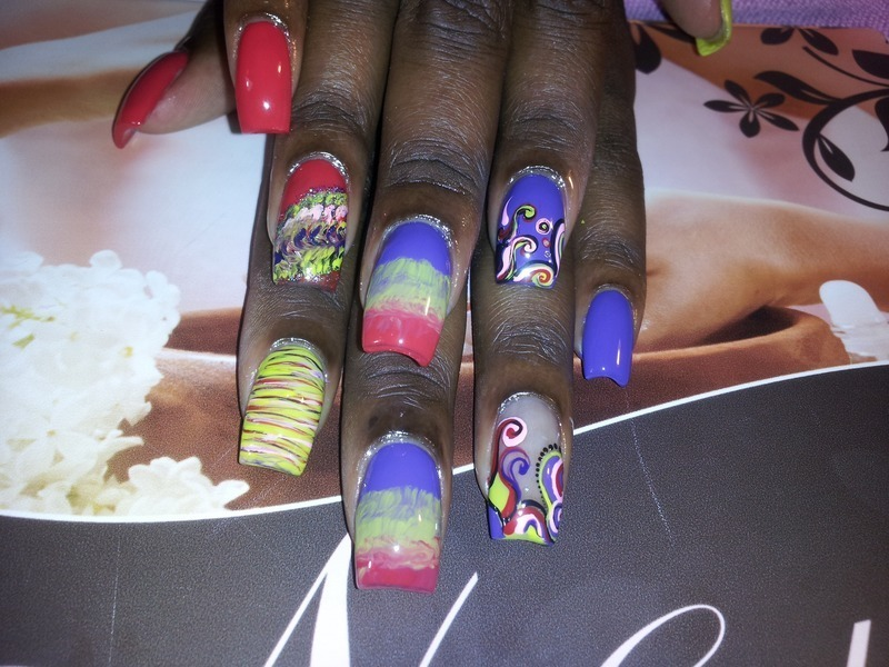Circus nail art by Lady NyCole