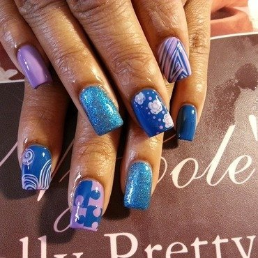 Pick Up the Pieces nail art by Lady NyCole
