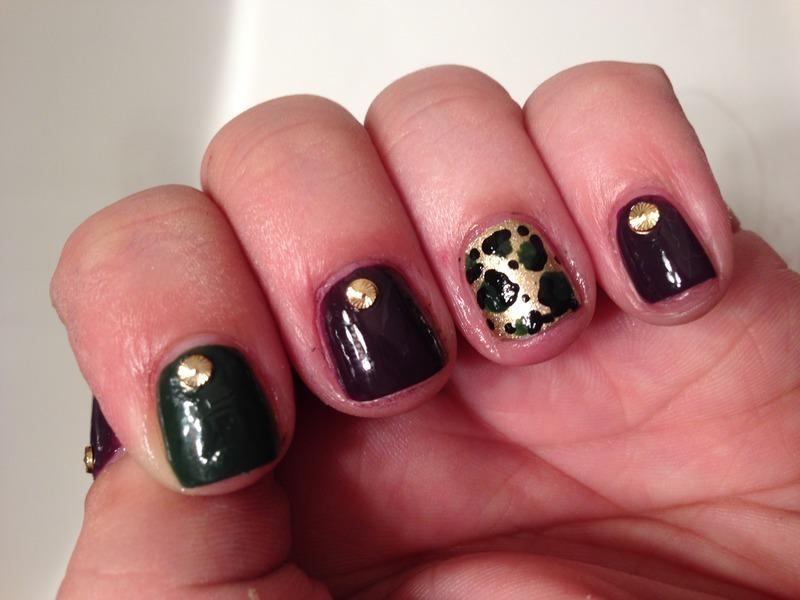 Autumn Cheetah nail art by Jenn