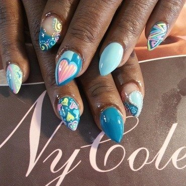 Take My Heart nail art by Lady NyCole