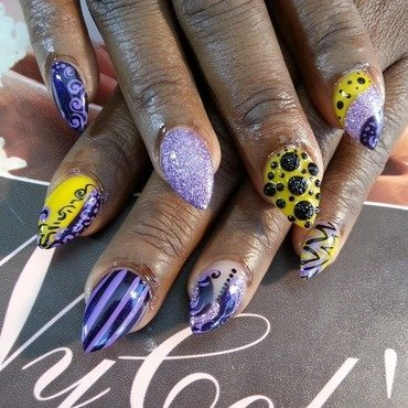 Clown Time nail art by Lady NyCole
