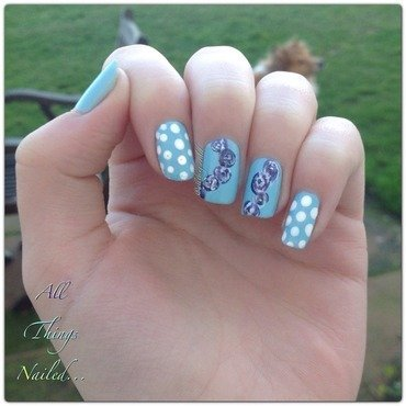 Pastel Florals nail art by All Things Nailed