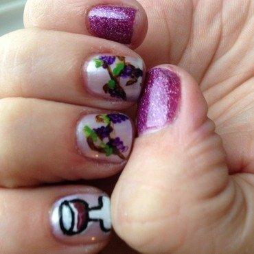 Wine Tasting  nail art by Jenn