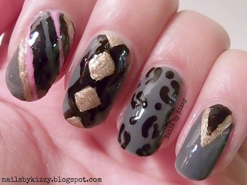 Inspired by an outfit nail art by Kizzy