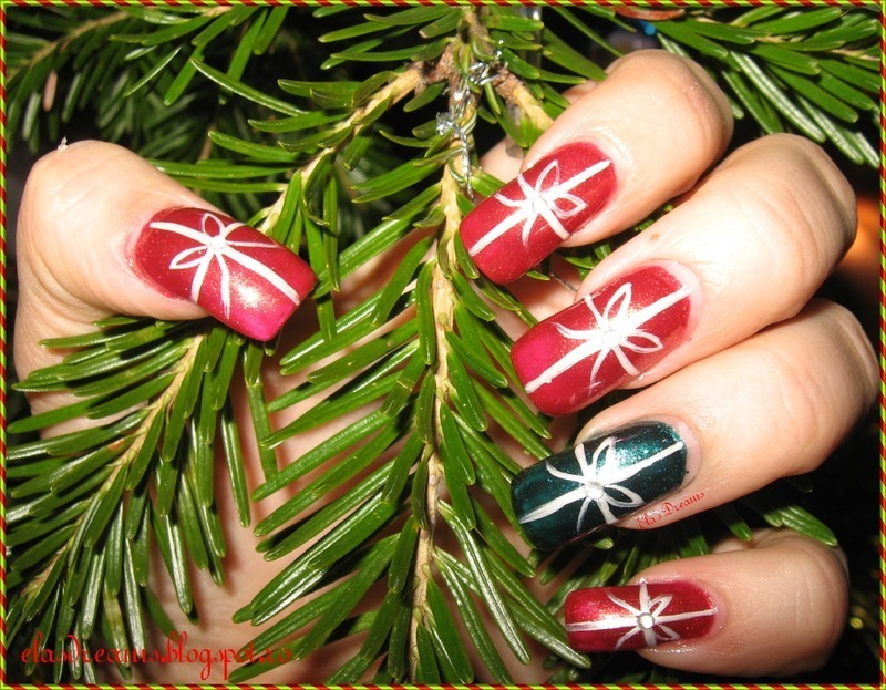 Christmas Presents nail art by Ela's Dreams