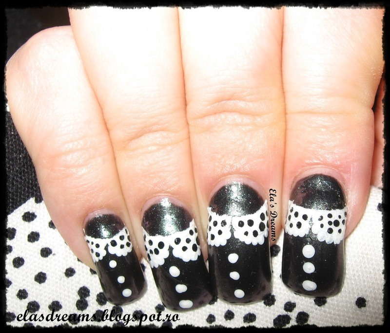 Collars on my nails nail art by Ela's Dreams