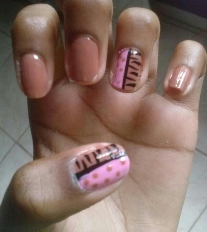 AnimalsPrints and PolkaDots nail art by Ashley F