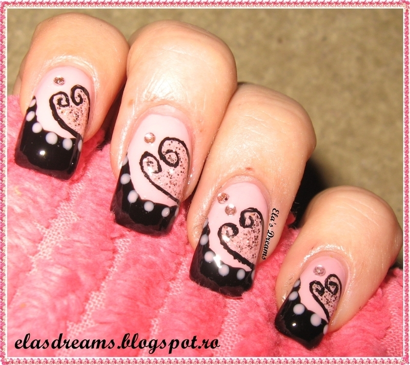 Valentine's Day Nails nail art by Ela's Dreams