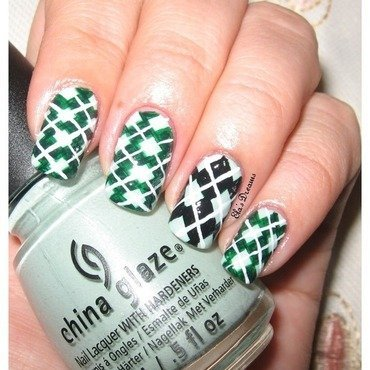 Inspired by Argyle Pattern  nail art by Ela's Dreams