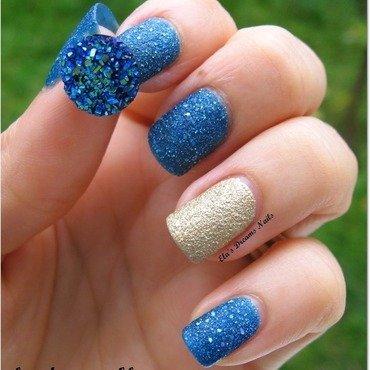 OPI Liquid Sans Combination nail art by Ela's Dreams