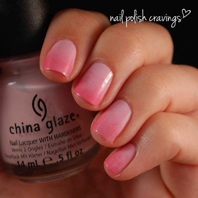 Pink Gradient nail art by Benna