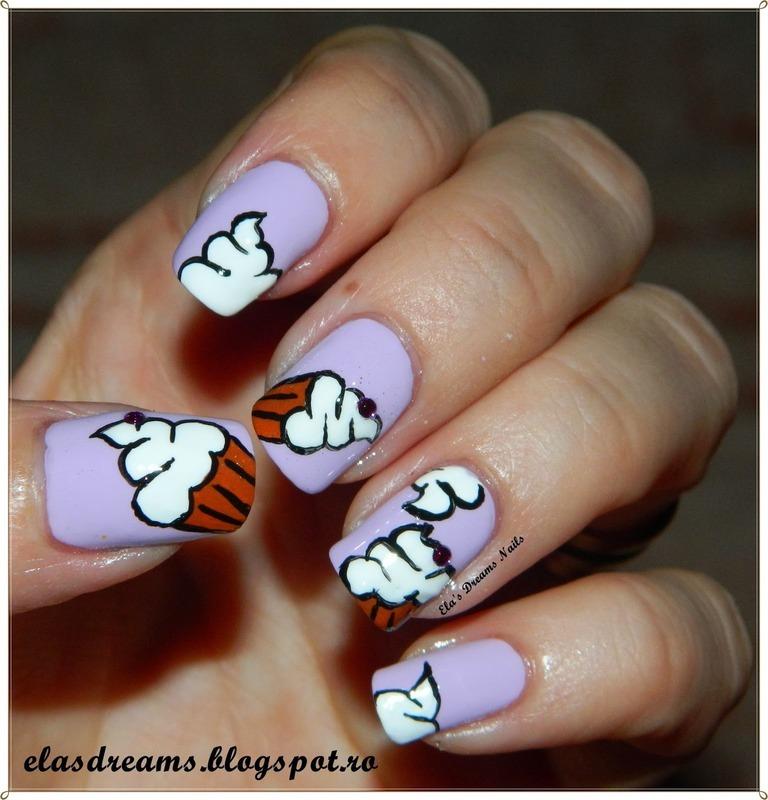 Cupcake Nails nail art by Ela's Dreams