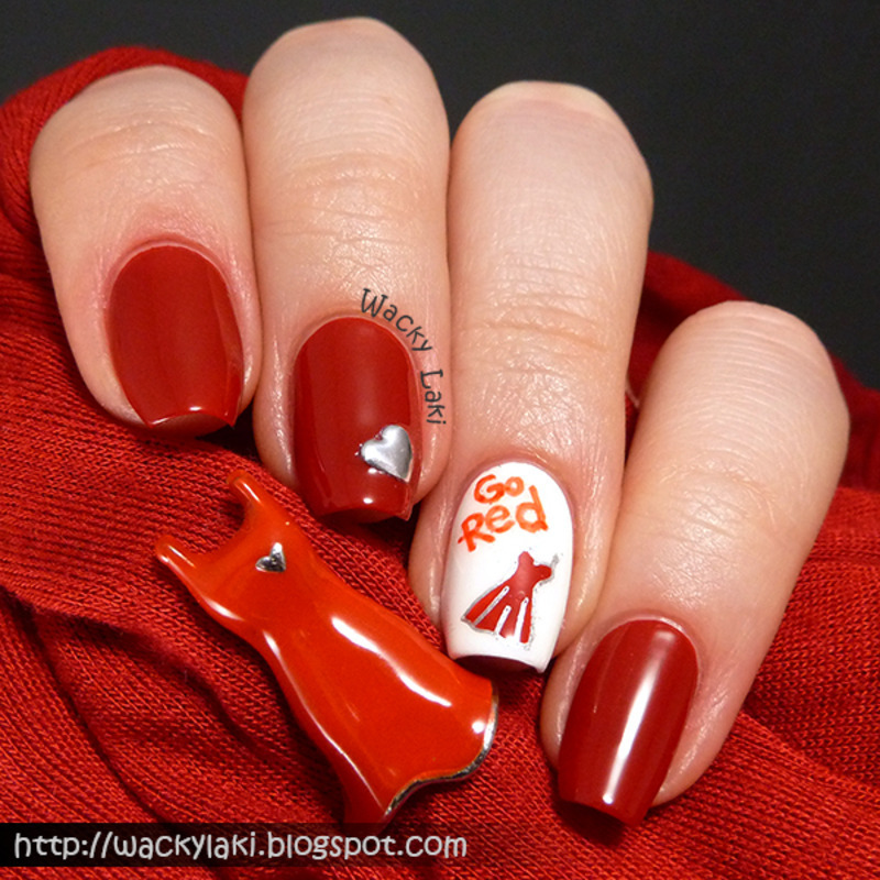 Go Red for Women nail art by Anutka - Nailpolis: Museum of Nail Art