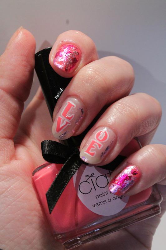 Love Love Me nail art by Fran Nails