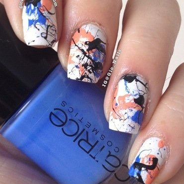 Splatter Nails nail art by Giovanna - GioNails