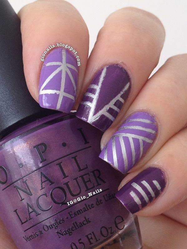 Tape Mani nail art by Giovanna - GioNails