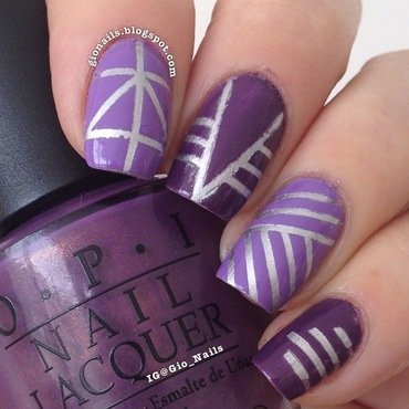 Tape Mani nail art by Giovanna - GioNails