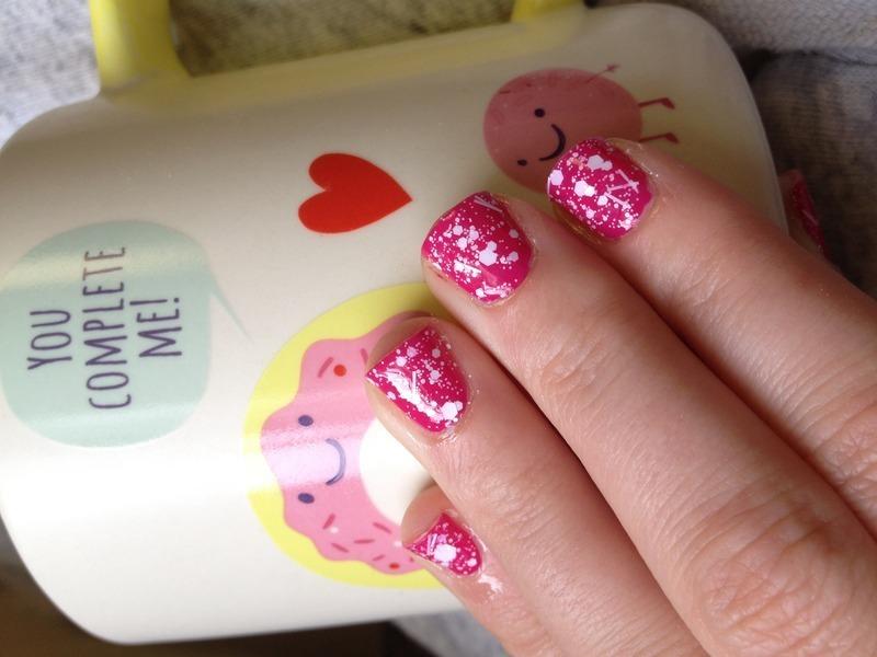 Crazy Love nail art by Cara