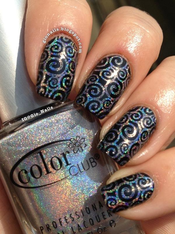 Holo Curls nail art by Giovanna - GioNails