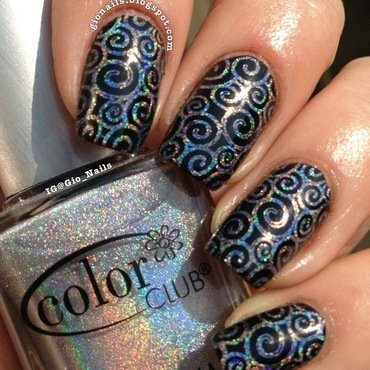 Holo Curls nail art by Giovanna - GioNails