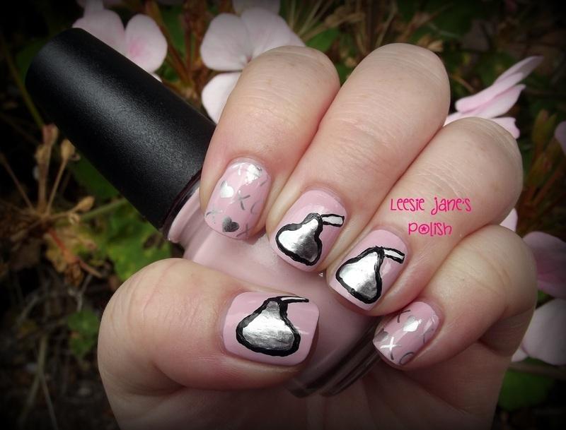 Valentine's Kisses nail art by Lisa Overend