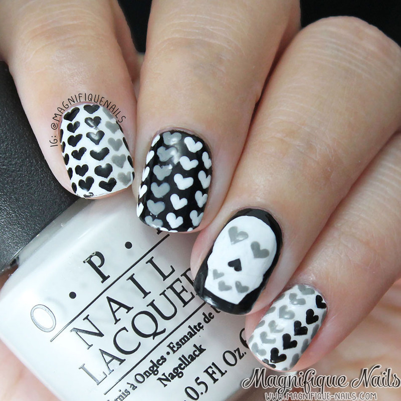 Love to the Bone! nail art by Ana