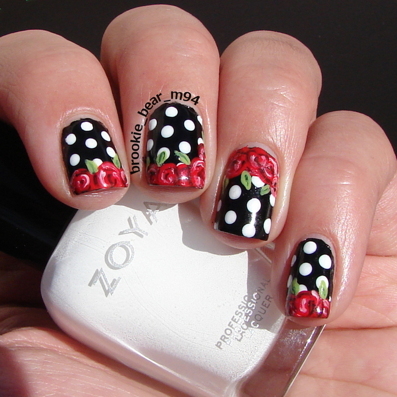 Red Rose Valentine Nails nail art by Brooke