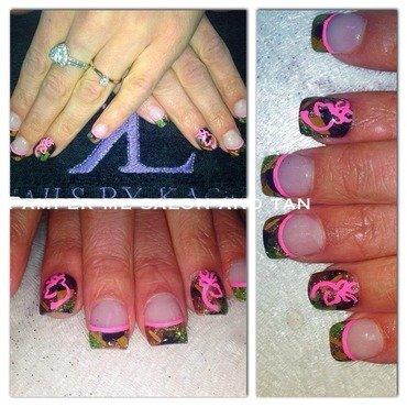 Camo nail art by KaCee