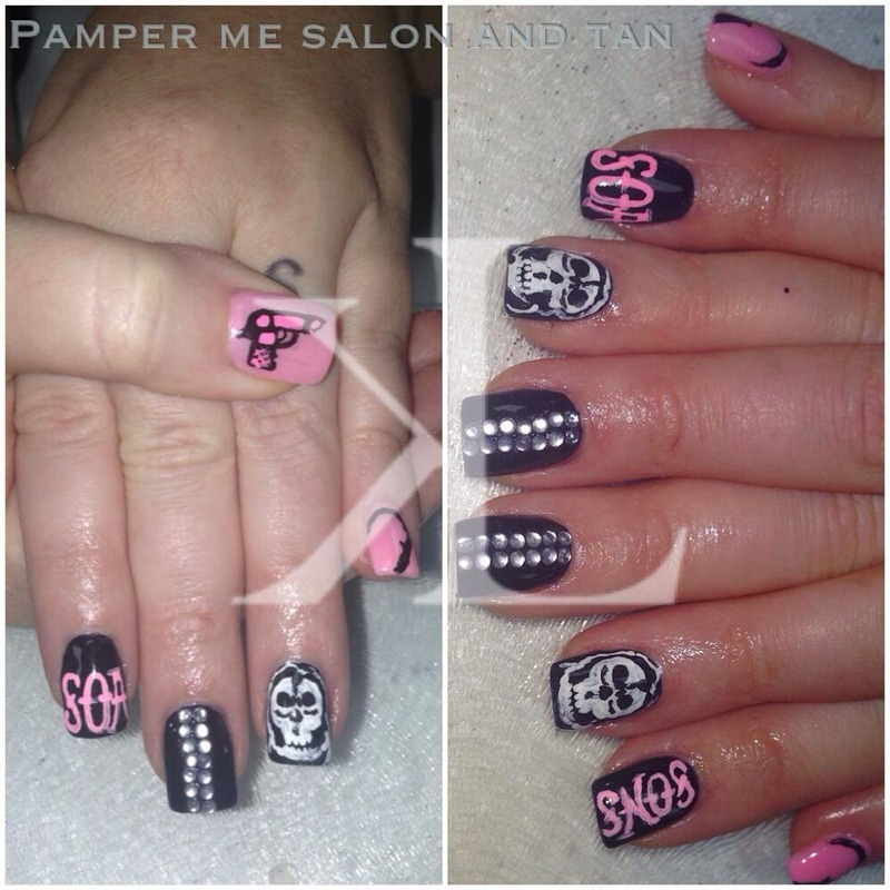 Sons of Anarchy  nail art by KaCee