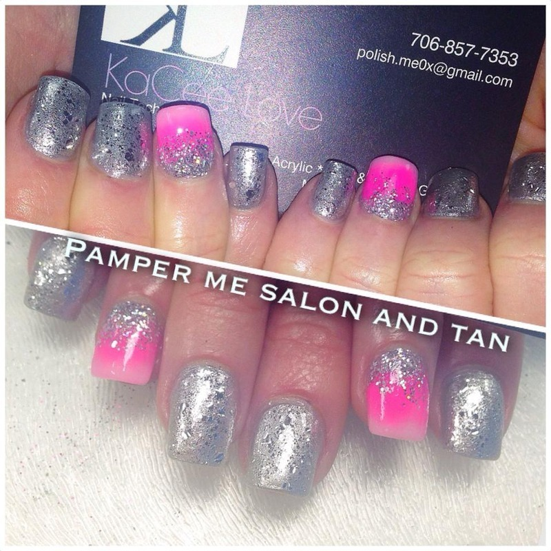 ombre  nail art by KaCee