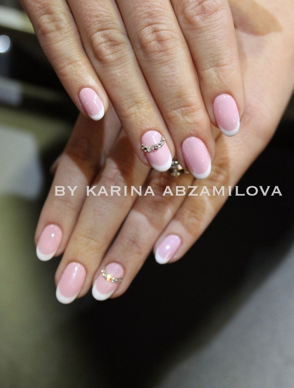 Classy french manicure is good for any event!  nail art by Karina Abzamilova