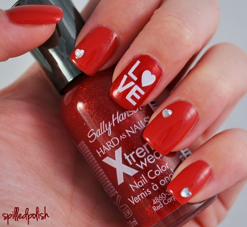 Easy Valentine's Day Nails nail art by Maddy S