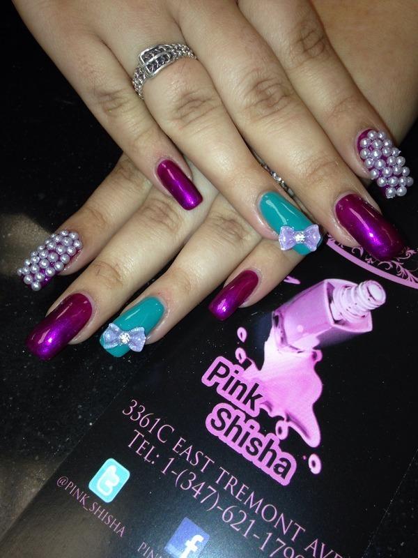 Candy pearl  nail art by Pink Shisha Nail Bar