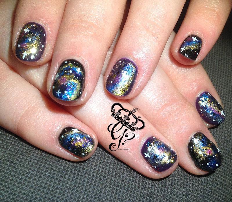 Galaxy  nail art by G's Nails N' Creations