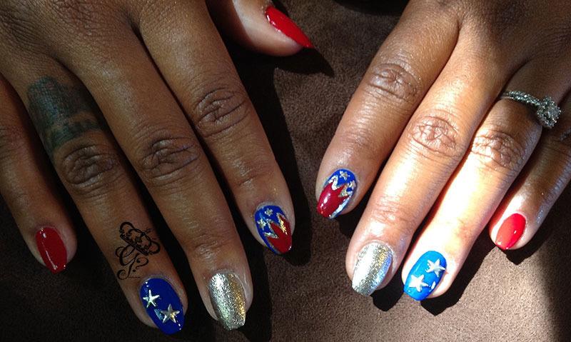 Patriotic nail art by G's Nails N' Creations