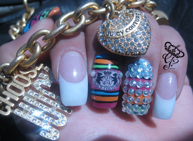 French Juicy Couture  nail art by G's Nails N' Creations