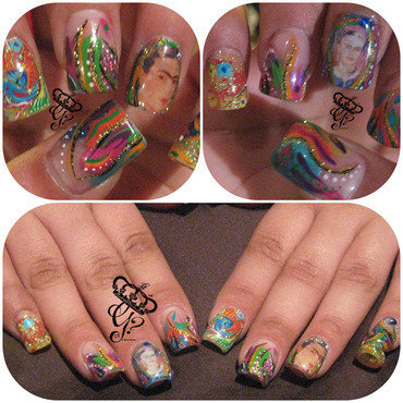 Frida Forever nail art by G's Nails N' Creations
