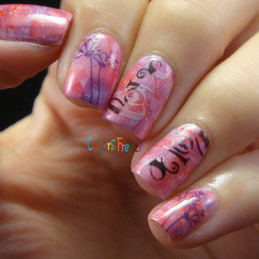 LOVE nail art by Novi