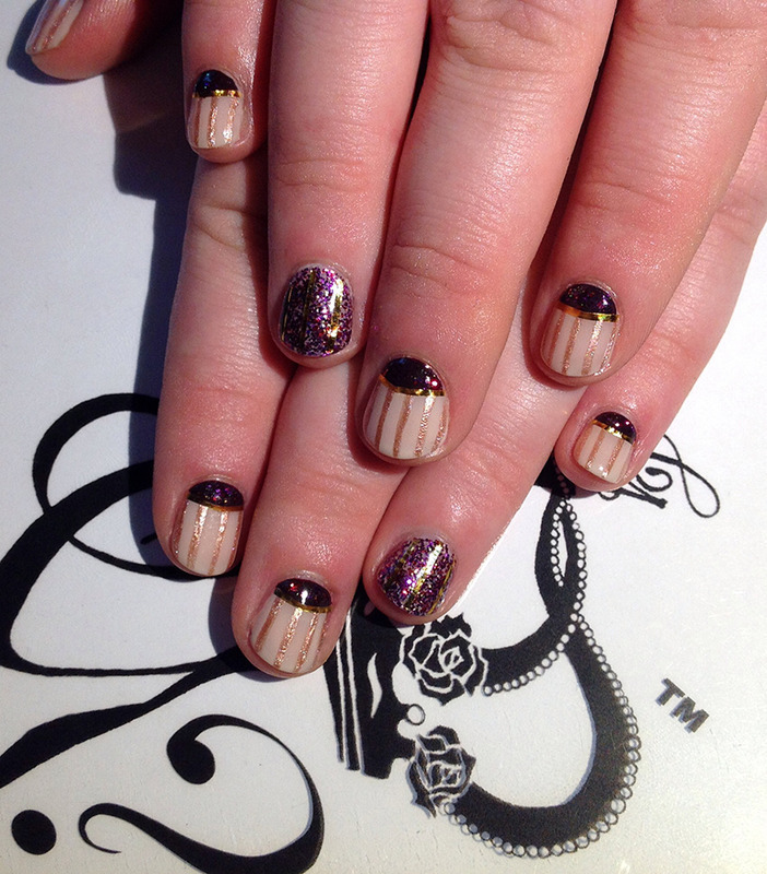 Pinstripe Halfmoons Nail Art By Gs Nails N Creations Nailpolis