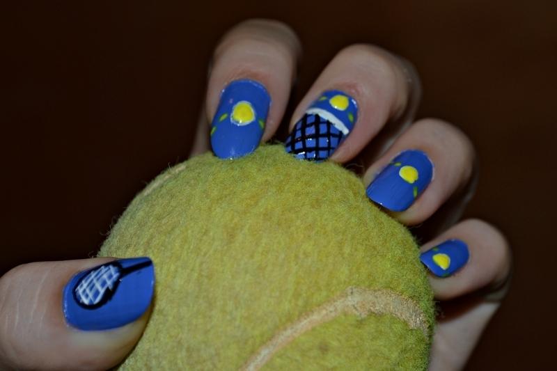 Tennis manicure nail art by Jovana  Filipovic