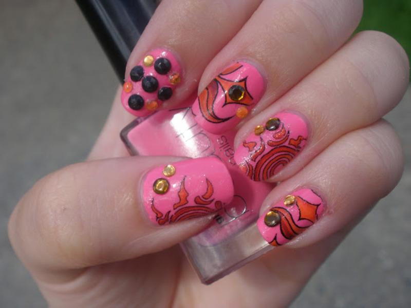 Pink Nail Art nail art by Enni