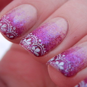 Lace Print nail art by Enni